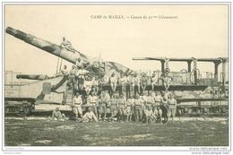 GUERRE 1914-18. Camp De Mailly. Canon Du 32° Glissement - Guerre 1914-18