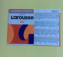 Calendrier Larousse 1980 (18x9 Cm Déplié) - Calendriers