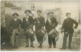 Photo Carte Postale De Jeunes Conscrits Musiciens Tambours Et Clairons Vers 1910 - Guerre 1914-18