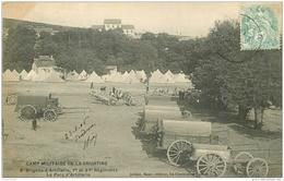 WW GUERRE. Camp Militaire De La Courtine. Le Parc D'Artillerie 1906 Avec Régiments - Guerre 1914-18