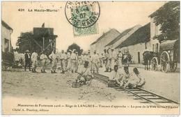 WW GUERRE. Siège De Langres. Pose De La Voie Ferrée 1907 Travaux D'approche - Guerre 1914-18