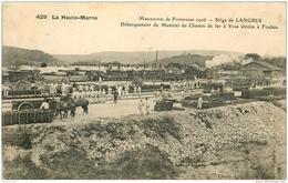 WW GUERRE. Siège De Langres. Débarquement Du Matériel Du Chemin De Fer à Voie étroite à Foulain 1907 Timbre Taxe - Guerre 1914-18