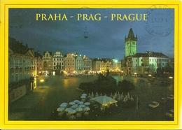 Praha (Rep. Ceca) Old Town Square At Night, La Place De La Vieille Ville La Nuit, Piazza Della Città Vecchia Di Notte - Repubblica Ceca
