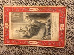 Apparizione Della Madonna Del Rosario A San Domenico - Antico Santino Cromolitografico Fine Ottocento Primi Novecento - Images Religieuses