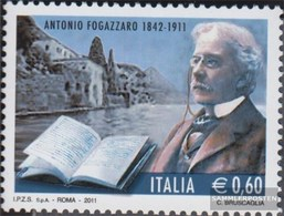 Italy 3425 (complete Issue) Unmounted Mint / Never Hinged 2011 Antonio Fogazzaro - 2011-...: Ungebraucht