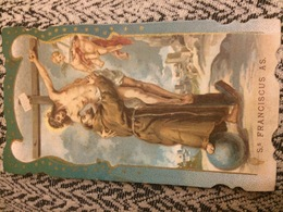 San Francesco D'Assisi - Antico Santino Cromolitografico Fine Ottocento Primi Novecento - Imágenes Religiosas