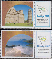 Italy 2860Zf-2861Zf With Zierfeld (complete Issue) Unmounted Mint / Never Hinged 2002 BriefmarkenmesseRICCIONE02 - 6. 1946-.. Republic