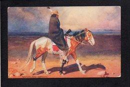 Indien Amérique / Muscalero Apache / Illustrateur à Identifier (Oillette ) - Amérique