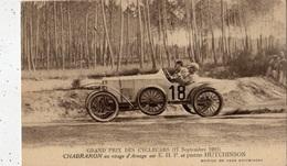 GRAND PRIX DES CYCLECARS (17/09/1921) CHABRARON AU VIRAGE D'ARNAGE SUR E.H.P. ET PNEU HUTCHINSON - Automovilismo