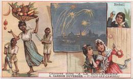 Figurina, Chromo, Victorian Trade Card. Brésil. Scenette Del Folklore Brasiliano. Simile A Bognard. - Thé & Café