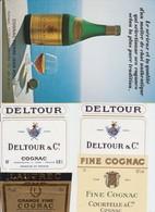 PUB - COGNAC - PIERRE JEAN ROUGE' - LAUTREC - DELTOUR - COUTERELLE - 6 DOCUMENTS - Alcools