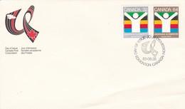 UNIVERSIDADE'83 EDMONTON-FDC ENVELOPE 1983 CANADA - BLEUP - 1981-1990