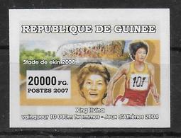GUINEE  N° 2881 * * NON DENTELE Course Marathon Xing Huina - Atletica
