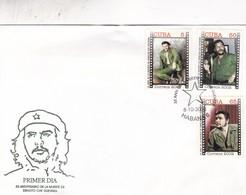 35 ANIVERSARIO DE LA MUERTE DE ERNESTO CHE GUEVARA-FDC ENVELOPE 2002 HABANA, CUBA - BLEUP - Storia