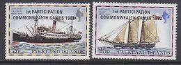 Falkland Islands 1982 Commonwealth Games 2v ** Mnh (41754A) - Falklandeilanden