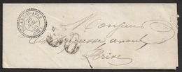 1858 - Enveloppe - C.à.d Cercle Pointillé Type 22 TOCANE St. APRE - DORDOGNE. - 1849-1876: Période Classique