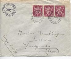 PR6273/ TP 685(bande De 3) S/L.Avion C.BXL 1947 V.Congo Belge Yangambi C.d'arrivée Via Stanleyville - Postmark Collection