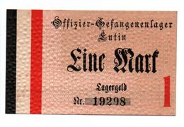 GEFANGENENLAGER GELD LAGERGELD BILLET CAMP LUTIN OFFICIER PRISONNIER ALLEMAGNE KG POW GUERRE 1914 1918 - [10] Military Banknotes Issues
