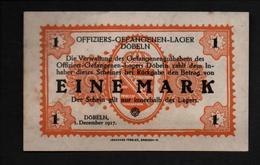 GEFANGENENLAGER GELD LAGERGELD BILLET CAMP DOBELN OFFICIER PRISONNIER ALLEMAGNE KG POW GUERRE 1914 1918 - Andere