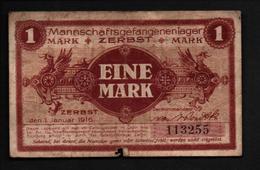 GEFANGENENLAGER GELD LAGERGELD BILLET CAMP ZERBST PRISONNIER ALLEMAGNE KG POW GUERRE 1914 1918 - [10] Military Banknotes Issues