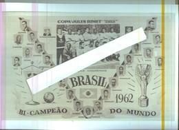 BRASIL...BRASILE ...MUNDIAL 1962.....PELE'.....WORLD  CUP....CALCIO....FOOTBALL..SOCCER...FIFA..LEGGI DESCRIZIONE - Trading Cards