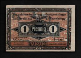 GEFANGENENLAGER GELD LAGERGELD BILLET CAMP BRANDENBURG PRISONNIER ALLEMAGNE KG POW GUERRE 1914 1918 - [10] Emisiones Militares