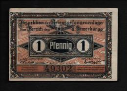 GEFANGENENLAGER GELD LAGERGELD BILLET CAMP BRANDENBURG PRISONNIER ALLEMAGNE KG POW GUERRE 1914 1918 - [10] Emissions Militaires