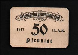 GEFANGENENLAGER GELD LAGERGELD BILLET CAMP ???  PRISONNIER ALLEMAGNE KG POW GUERRE 1914 1918 - [10] Emissions Militaires