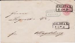 Preußen Ganzsache U 26 A Ra2 Calbe A Saale N Magdeburg Ca 1865 - Preussen