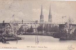 Anvers Vue Du Parc Circulée En 1908 - Antwerpen
