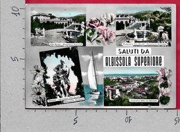 CARTOLINA VG ITALIA - Saluti Da ALBISSOLA SUPERIORE (SV) ALBISOLA - Vedutine Multivue - 10 X 15 - ANN. 1957 - Saluti Da.../ Gruss Aus...