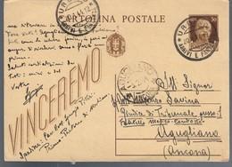 Cartolina Postale Vinceremo Viaggiata 1944 C.2082 - Italia
