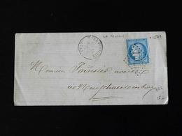 LETTRE DE LA FEUILLIE POUR NEUFCHATEL EN BRIE  -  1873  - - Storia Postale