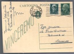 Cartolina Postale Vinceremo Viaggiata 1943 C.2083 - Italia