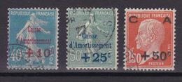 D318/  N° 246/248 OBL COTE 30€ - France