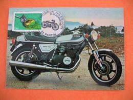 Carte  Moto   Exposition Philatélique  Pantin  1981  Yamaha 750 XS  -  750 Cm 3 - Motos