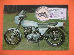 Carte  Moto   Exposition Philatélique  Pantin  1981  Kawasaki 1000  ZIR   -  1015 Cm 3 - Motos