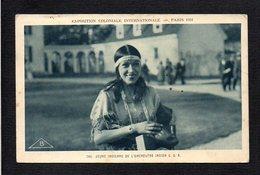 Indien Amérique / Jeune Indienne De L'Orchestre Indien ( USA ) / Exposition Coloniale Internationale Paris 1931 - Amérique