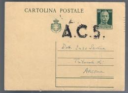 Cartolina Postale Luogotenenza Viaggiata 1945 Cattiva Conservazione C.2085 - Italia