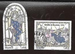 TIMBRE FRANCE ..   OBLITERATION RONDE..HISTOIRE DE FRANCE..N°4828/4829...2013....SCAN - Francia