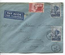 PR6276/ TP 387-389(2) Expo BXL 1935 S/L.Avion C.Ressaix 1935 V.Bambesa Congo Belge C.Aba En Arrivée Via BXL - Postmark Collection