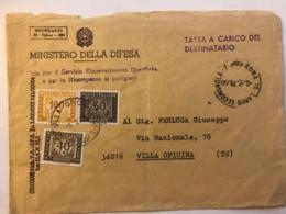 Lettera Del Ministero Della Difesa Con Tassa Di Bollo 1977 - Senza Corrispondenza - 1971-80: Marcophilia
