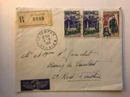 LSC Recommandée De L'ile De La Réunion 1966 - LE TAMPON - Reunion Island (1852-1975)