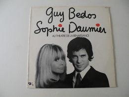 Guy Bedos & Sophie Daumier Au Théâtre De La Renaissance 1973 - (Titres Sur Photos) - Vinyle 33 T LP - Humor, Cabaret