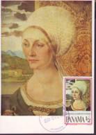 Portrait Of Elizabeth Tucher, Painting  By A. Durer,  Maximum Card 1969 Panama - Panama