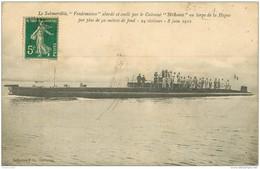 WW Promotion : Navires, Bateaux, Paquebots Et Marine De Guerre. Le VENDEMIAIRE Submersible 1912 - Warships
