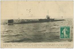 WW Promotion : Navires, Bateaux, Paquebots Et Marine De Guerre. Le PLUVIOSE Submersible 1910 - Warships