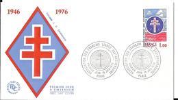 GUERRE 1939 1945 - ANNIVERSAIRE FORCES FRANCAISES LIBRES PARIS 1976 - FFL - Guerre Mondiale (Seconde)