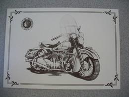 Carte Moto  Indian Chief  1950 - Motos