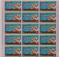 Guinea Ecuatorial Nº Michel A104 En Hoja De 15 Sellos SIN DENTAR - Äquatorial-Guinea